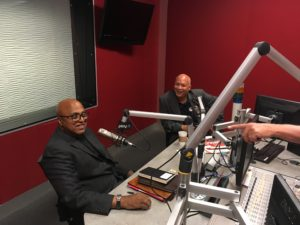 David Tarver of UEI and Mark Small of CBS Radio
